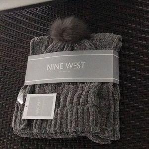 Nine West Hat and Scarf set
